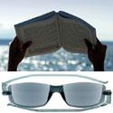 Folding sun reading glasses